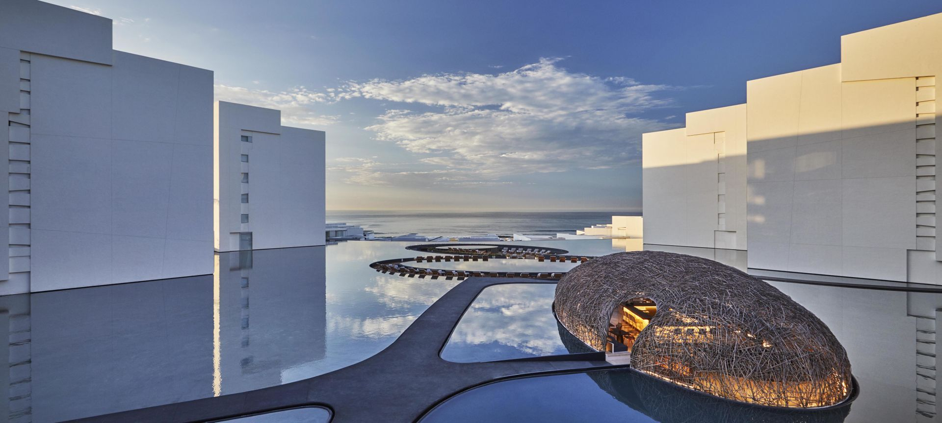 Unique courtyard at Viceroy Los Cabos