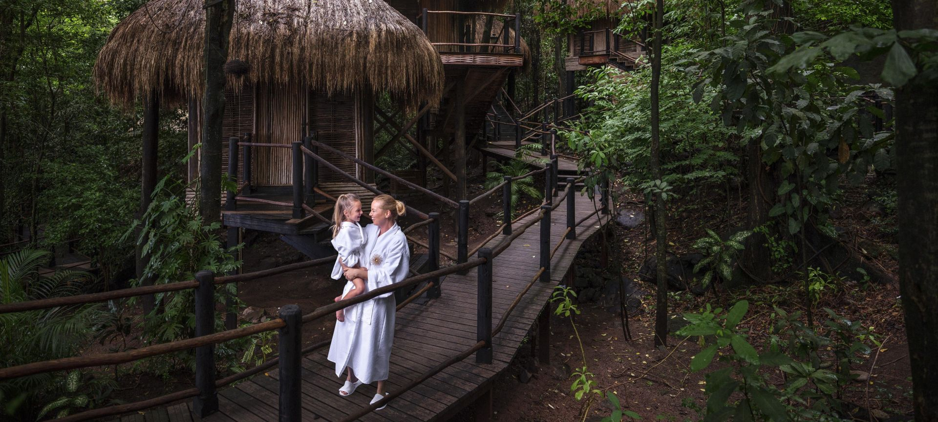 Viceroy Sugar Beach guests at the resort's rainforest spa